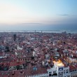 Aerial view of Venice city at evening - Stock Photo