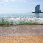 Barceloneta beach in Barcelona, Spain — Stock Photo
