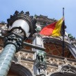 Stock Photo: Belgium flag on Grand Place in Brussels