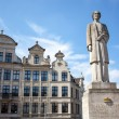 Stock Photo: Queen Elisabeth statue in Brussels, Belgium