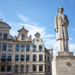 The Queen Elisabeth statue in Brussels, Belgium — Stock Photo