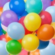 Stock Photo: Color balloons background