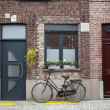 Bicycle on the street in Bruges, Belgium — Stock Photo