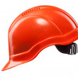 Red hard hat isolated on white — Stock Photo
