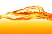 Orange water splash isolated on white — Stock Photo
