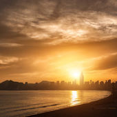 View of Benidorm on sunset, Costa Blanca, Spain — Stock Photo