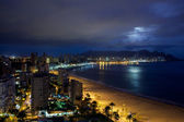 View of Benidorm at night, Costa Blanca, Spain — Stock Photo