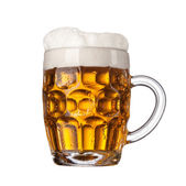 Beer in glass isolated on white background — Стоковое фото