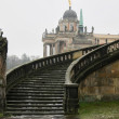 Stairway of The Sanssouci Palace in winter. Potsdam, Germany — Stock Photo