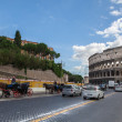 Stock Photo: Rome, Italy - 17 october 2012: Busy street near Colosseum - anci