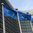EuropeUnion flags in front of Berlaymont building (Europe — Stock Photo #42047101