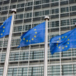 European Union flags in front of the Berlaymont building (Europe — Stock Photo #42047131