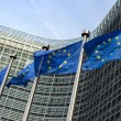 European Union flags in front of the Berlaymont building (Europe — Stock Photo #42047141