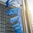 European Union flags in front of the Berlaymont building (Europe — Stock Photo #42047169