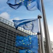 EuropeUnion flags in front of Berlaymont building (Europe — Stock Photo #42047183