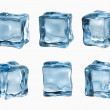 Ice cubes isolated on white — ストック写真