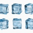 Ice cubes isolated on white — Stock fotografie
