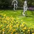 Famous flowers park Keukenhof in Netherlands also known as the G — Foto de Stock
