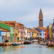 Color houses on Burano island near Venice — Stock Photo #50986581