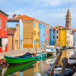 Color houses on Burano island near Venice — Stock Photo #50986621