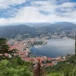 View of Como city on Como lake in Italy — Stock Photo #50986755