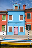 Color houses on Burano island near Venice — Photo