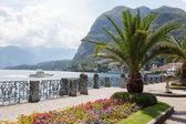 Promenade in Menaggio on Como lake, — Stock Photo