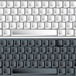 Black and white vector keyboards — Vector de stock  #1885299