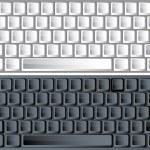 黑色和白色矢量键盘 — 图库矢量图片 #1885299