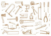 Vintage set of tools — Stock Vector