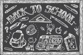 Back to school vector — Stockvector