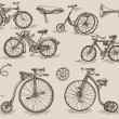 Retro bicycles — Stock Vector