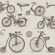 Retro bicycles — Stock Vector #29986873