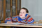 Pojken missar på en lektion — Stockfoto