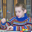 Stock Photo: Boy at drawing lesson