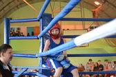 The boy at boxing competitions — Fotografia Stock