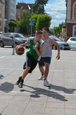 Day of youth of 2013, Tyumen. Basketball competitions in Tsvetno — Stock Photo