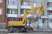 The special equipment on a construction of roads. Excavator — Stock Photo