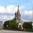 The temple in honor of Prelate Nikolay — Stock Photo