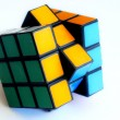 图库照片: Color sides of cube-rubika.