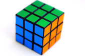 Color sides of a cube-rubika. — Stock Photo