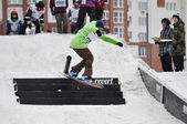 Competitions of snowboarders in the city of Tyumen. — Foto Stock