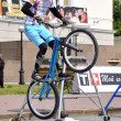 Постер, плакат: Mikhail Sukhanov the champion of Russia on a cycle trial