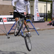 Постер, плакат: Timur Ibragimov performance champions of Russia on a cycle tria
