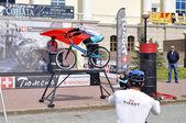 Timur Ibragimov and Mikhail Sukhanov's performance, champions of — Stock Photo