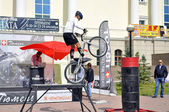Timur Ibragimov  performance, champions of Russia on a cycle tri — Photo