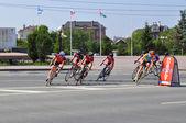 Día del deportista en tyumen, 09.08.2014. ciclismo. — Foto de Stock