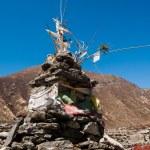 Buddhist stupe or chorten in Himalayas — Stock Photo #11787286