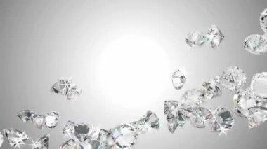 Stora diamanter flöde med slow motion — Stockvideo