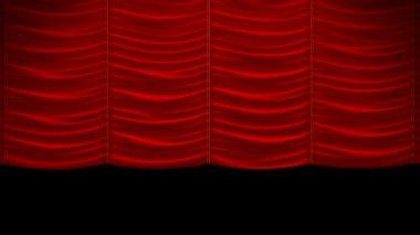 Cortina, con patrón de tela hermosa. se incluye el canal alfa. puede rebobinar el video y colocar la cortina — Vídeo de Stock